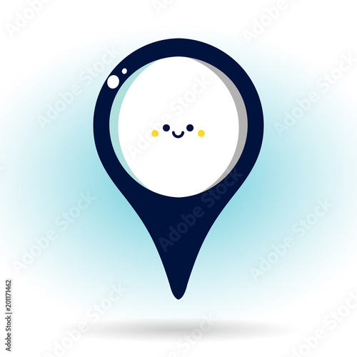Location icon on the blue background Poster