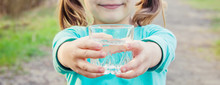 Child Glass Of Water. Selectiv...