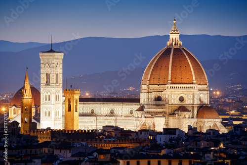 Fotografie, Obraz Florence Dome by night, Italy
