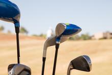 Golf Club Irons Close-up