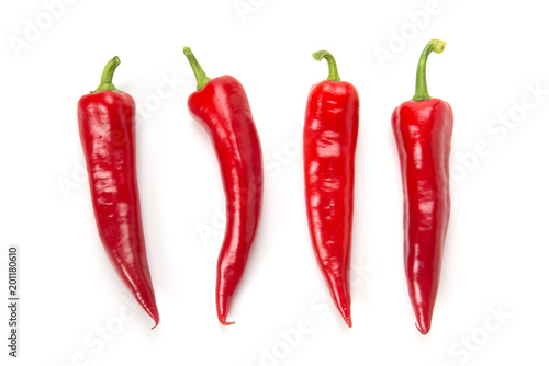 Wall Murals Hot chili peppers 赤ピーマン