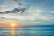 サンセット・夕焼け・太陽・地平線・海