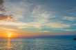 Beautiful Sunset sea horizon landscape