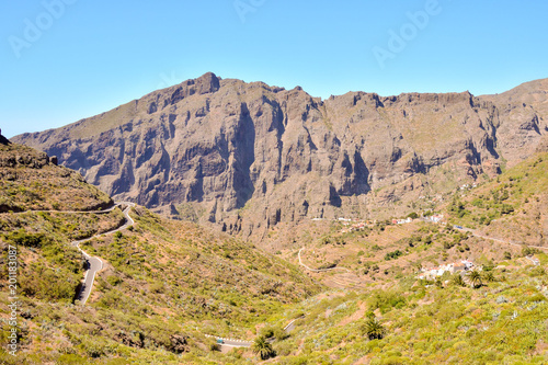 Foto op Canvas Canarische Eilanden Photo Picture of a Valley in the Canary Islands