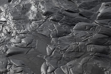 Black Volcanic Rock Background