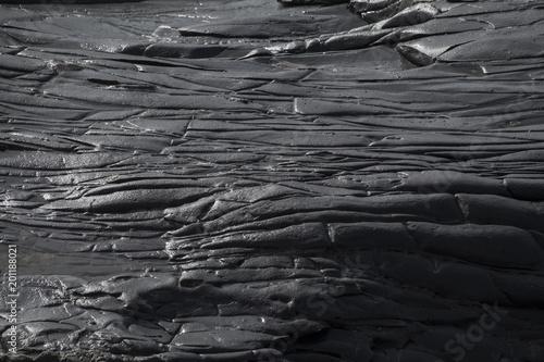 Fotografía black volcanic rock background