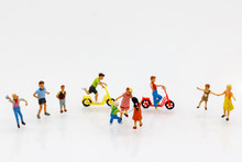 Miniature People Children Play...