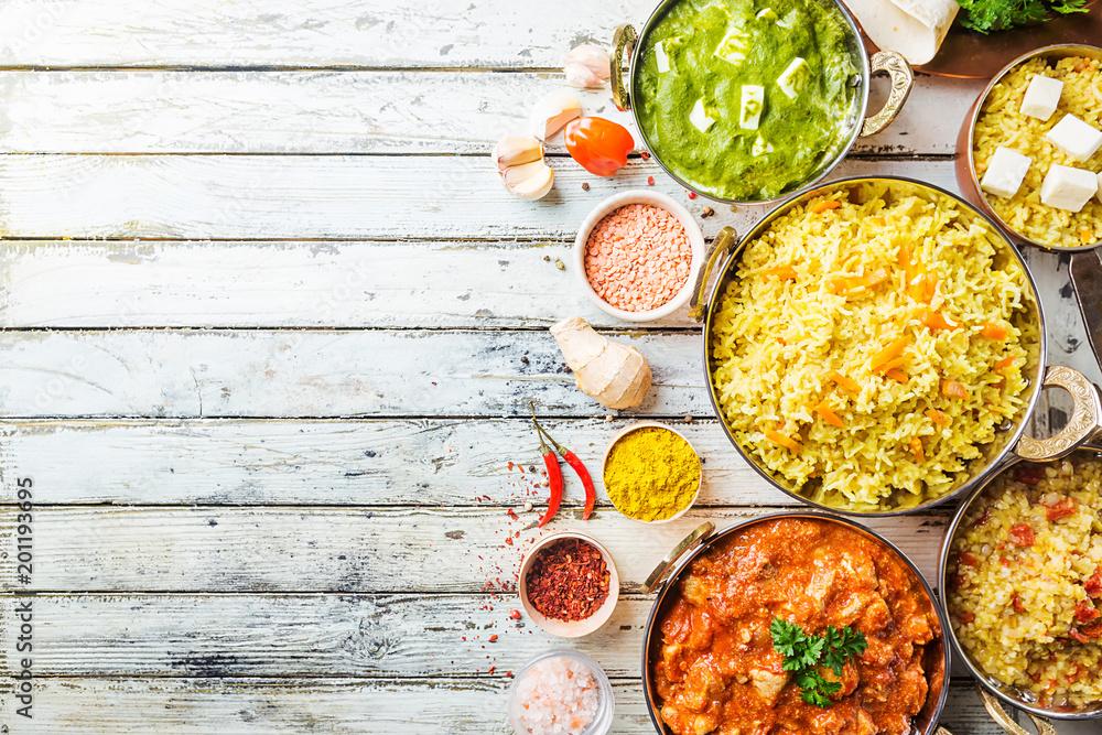 Fototapeta Assorted indian food