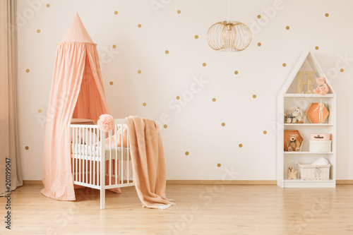Deurstickers Kamperen Spacious baby's bedroom interior