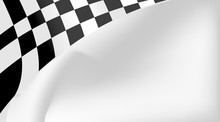 Checkered Flag Background Vector Race Design