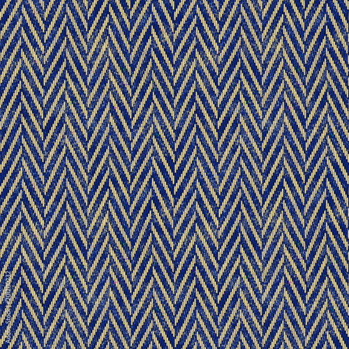 Fototapeta seamless tweed fabric blue and beige background obraz