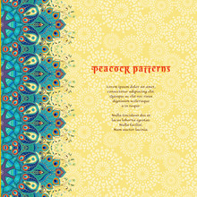 Vector Card With Floral Orient...