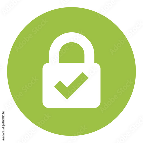 Web Security Lock Icon Wall mural