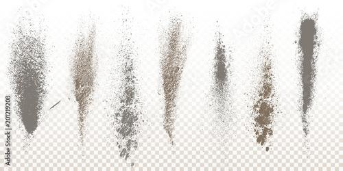 Valokuva  Scattered powder falls, stains, splashes, powder explosion