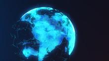 Futuristic Digital Earth And S...
