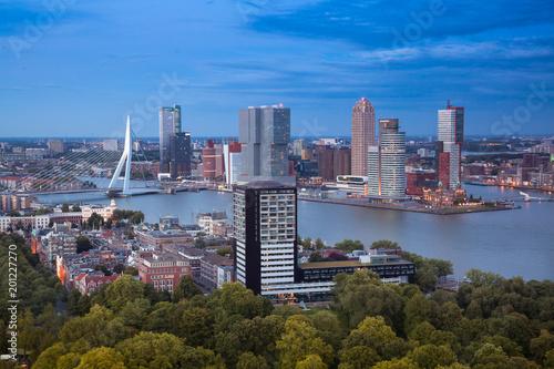 Staande foto Rotterdam Rotterdam aerial