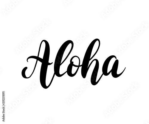 Aloha word lettering Canvas Print