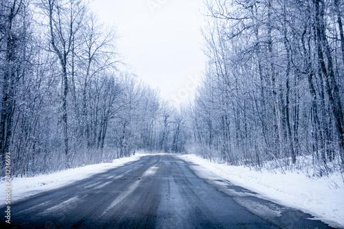 Recess Fitting Blue sky Winter Road