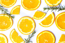Sliced Oranges With Rosemary B...