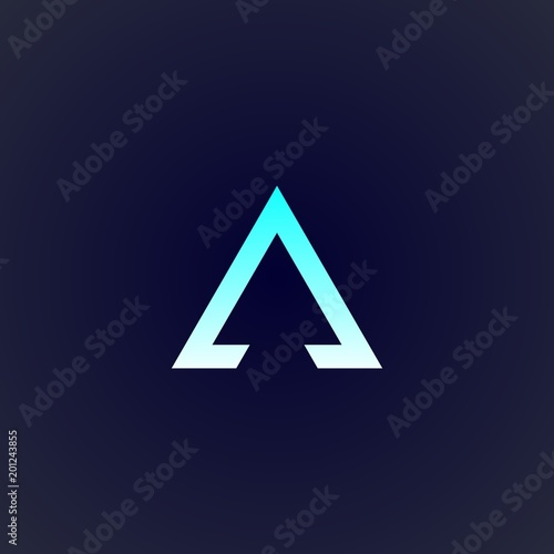 Tablou Canvas triangle logo design for company, element, and concept