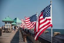 American Flag On South Carolin...