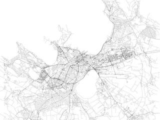 Cartina di Tallinn, vista satellitare, città, Estonia. Strade della città e delle zone limitrofe
