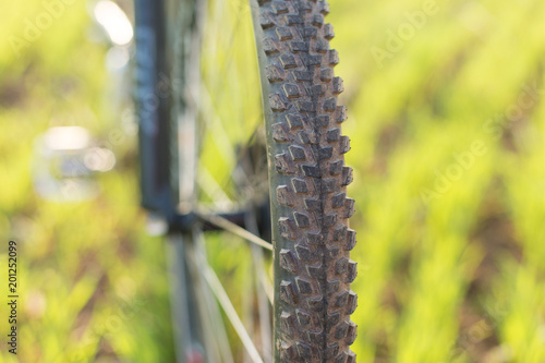 Foto  Close-up on a bicycle at the back, Mountain Bike Protector
