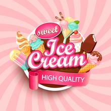 Colorful Ice Cream Shop Logo L...