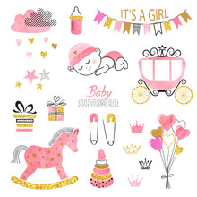 Baby Shower Girl Set. Collecti...
