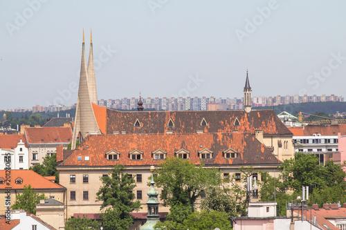 Foto op Plexiglas Artistiek mon. Panoramic view of Prague