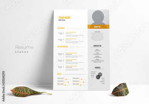 resume layout with gray sidebar  buy this stock template and explore similar templates at adobe