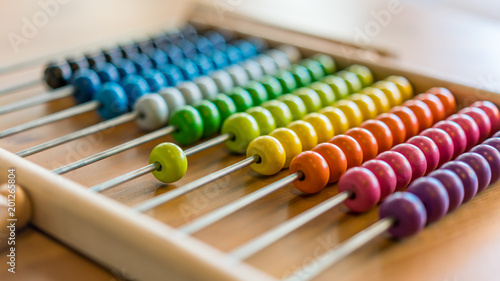 Photo Calculate Colorful Abacus
