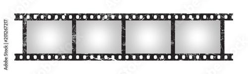 Fototapeta Six empty retro frames of 35 mm film strip obraz na płótnie