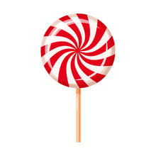 Striped Peppermint Candy, Cara...