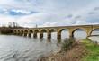 The railway bridge over the Arija reservoir, Burgos, Spain