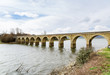The railway bridge over the Arija reservoir, Burgos, Spain