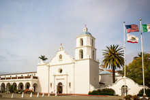 View Of Historic San Luis Rey Mission In Oceanside California