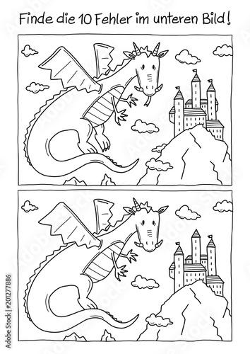 Naklejka premium Mistake Dragon