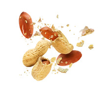 Dried Peanut Crushed In The Ai...