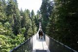 Tourists Capilano Suspension Bridge