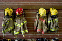 Fire Department Helmets And Su...