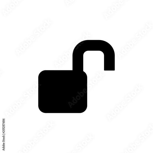 Open Lock Icon Element Of Minimalistic Icon For Mobile Concept And