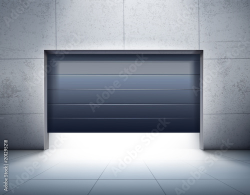 Fototapeta Garage Opening Realistic Composition obraz