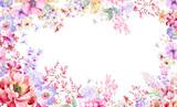 Fototapeta Kwiaty - Colorful watercolor flowers