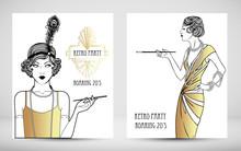 Art Deco Vintage Invitation Te...