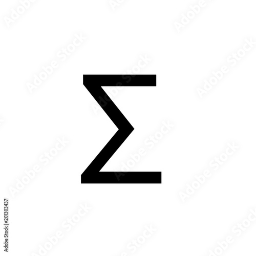 Math Symbols Vector And Math Icons Sigma Symbol Buy This Stock