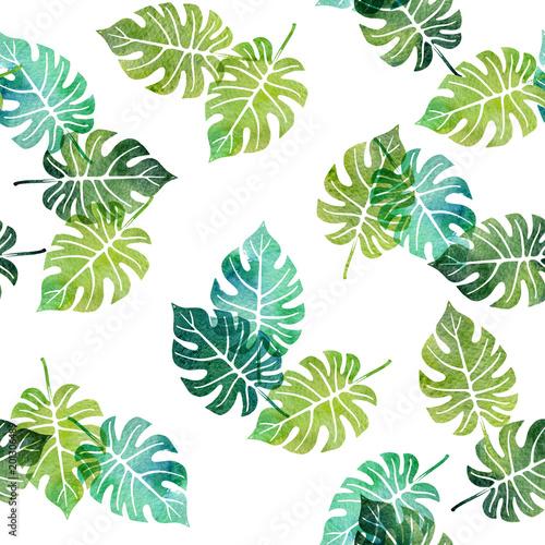 akwarela-bezszwowe-wzor-z-lisci-drzewa