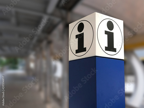Fototapeta information in airport for tourist  in a modern hall obraz