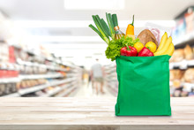 Shopping Bag With Food And Gro...