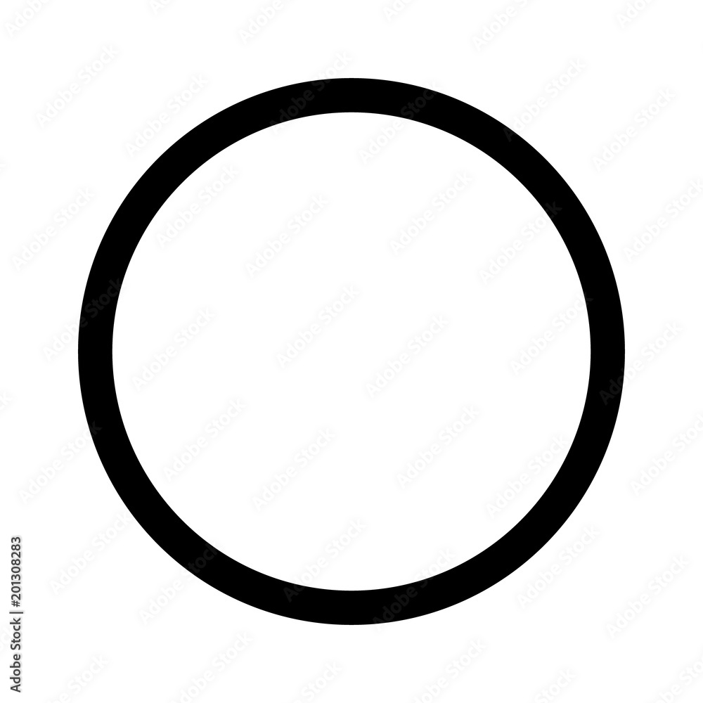 Fototapety, obrazy: Round circle geometric ball shape line art vector icon for apps and websites